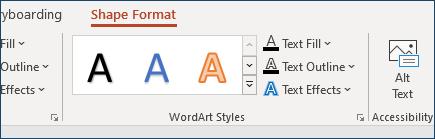 Grupa WordArt stilova