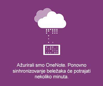 Sinhronizacija ekrana u programu OneNote za Android