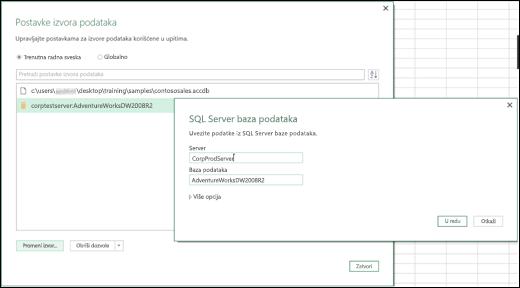 Excel Power BI – poboljšanja postavki izvora podataka