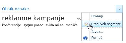 Edit menu for a tag cloud Web Part