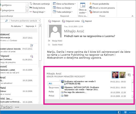 Programski dodatak Outlook Social Connector nakon što je razvijen