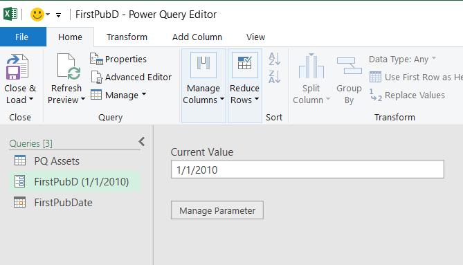 Power Editor uređivača koji prikazuje parametar