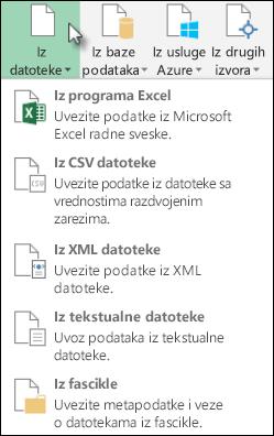 "Dijalog ""Power upita iz datoteke"""