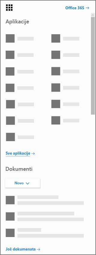 Pokretanje Office 365 aplikacija