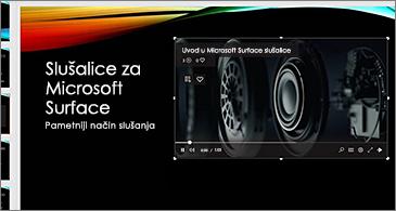 Slajd koji sadrži video zapis na mreži