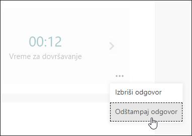 """Opcija """"Štampaj odgovor"""" u Microsoft obrascima"""