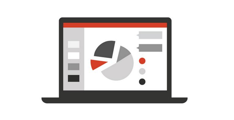Ilustracija monitor računara sa grafikon na njemu
