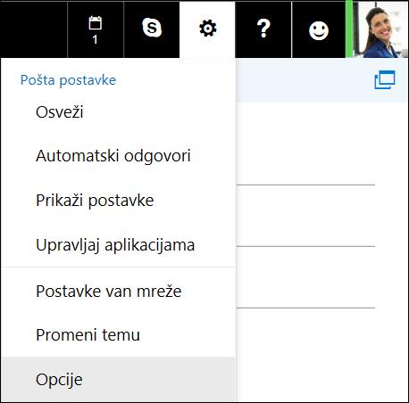 Opcije postavki programa Outlook na vebu