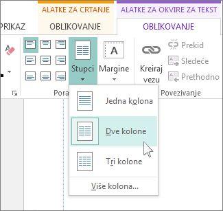 Create two column publication