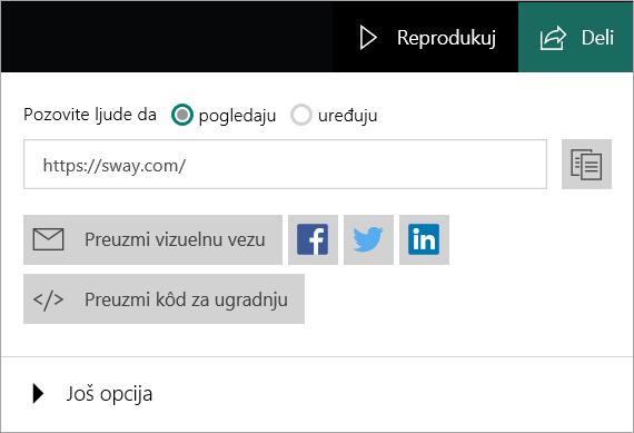 Meni Sway sa Microsoft naloga