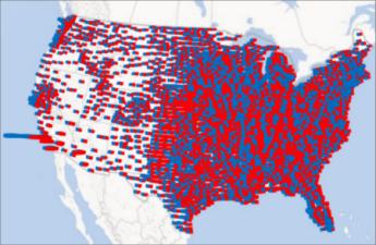 Stubičasti grafikon u programu Power Map