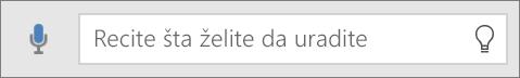 """Prikazuje polje za pretragu """"Recite mi"""" u sistemu Office Mobile"""