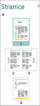 """Okno """"Navigacija po stranici"""" sa prikazom jedne stranice i uporednim prikazom dve stranice."""