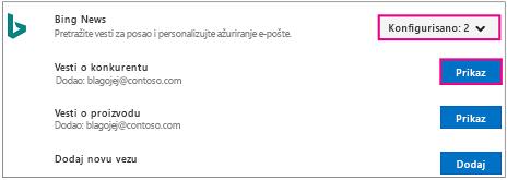 Linije spajanja sa konfigurisan i prikaz markiranom radnom dugmadi