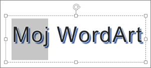 WordArt sa izabranim delom teksta