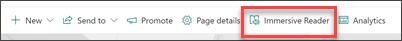 Screenshot of the immersive reader task bar