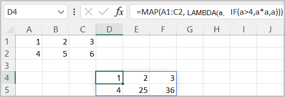 First MAP function example1