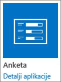 Ikona aplikacije ankete uključenim u SharePoint