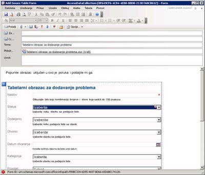 Prikupljanje informacija sa programom InfoPath