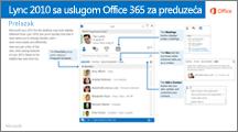 Sličica vodiča za prebacivanje između usluga Lync 2010 i Office 365
