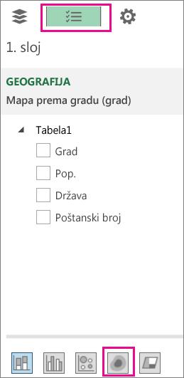 """Ikona """"Toplotna mapa"""" na kartici """"Lista polja"""""""
