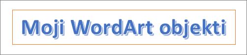 Primer WordArt objekata