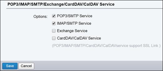 Izaberite stavku POP3/SMTP i IMAP/SMTP.