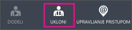 """Prikazuje dugme """"Ukloni"""" u usluzi Azure AD"""