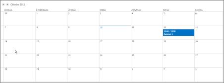 Prikaz kalendara