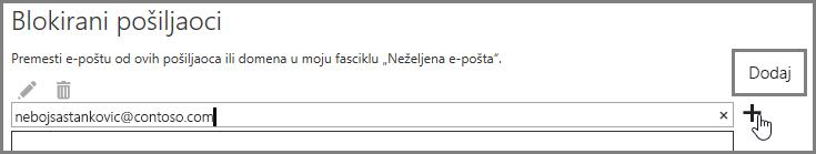 Blokiranje pošiljaoca u programu Outlook Web App