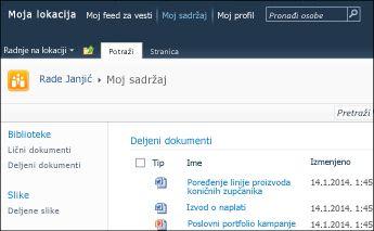 """SharePoint 2010 """"Moja lokacija"""""""