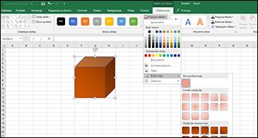 Unakrsne tabele sa istaknutim oblikom i prikazanim izborima preliva