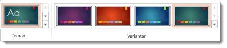 Fliken Design: teman med varianter
