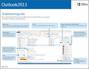 Snabbstartsguide för Outlook 2013
