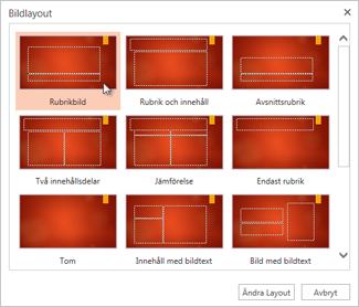 Ändra layouten för en bild