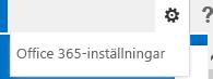 Gå till Inställningar > Inställningar för Office 365