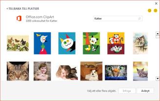 Urval av kattbilder på Clip Art-webbplatsen