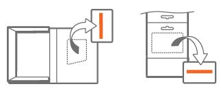 Produktnyckelns plats när Office köpts från återförsäljare, utan DVD