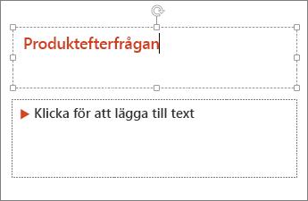 Lägga till text