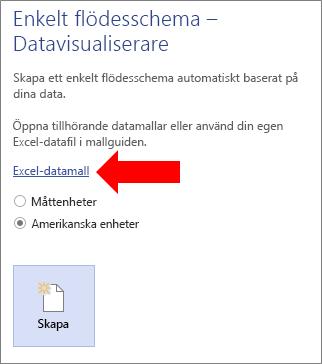 Välja länken Excel-datamall