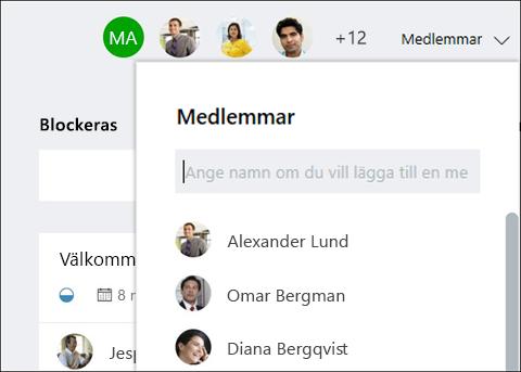 Skärmen capture: visar att när du skriver en gäst namn grupplanering identifierar gäst.