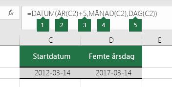 Beräkna ett datum baserat på ett annat datum