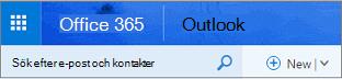 Det här är hur Outlook på webben ser ut