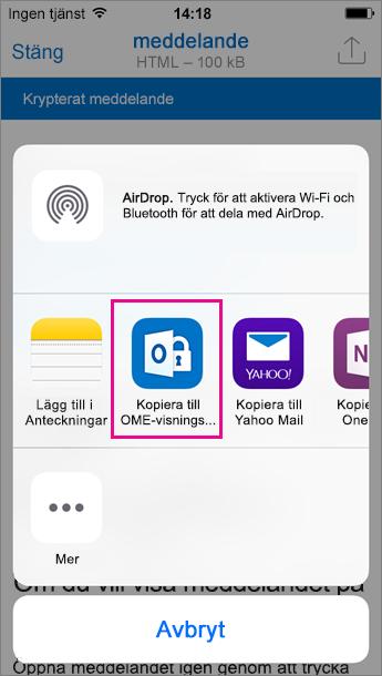 Visningsprogram för OME för Outlook för iOS 3