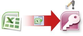 importera data från excel till access