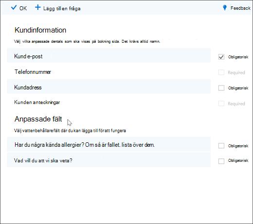 Skärmdump: visar administratören som skapar anpassade frågor.