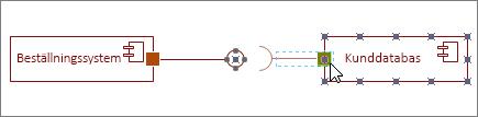 Gränssnitt som krävs-form fäst vid komponentform