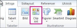 Infoga ClipArt i Office 2010