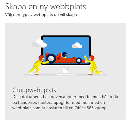 SharePoint Office 365 – Skapa en webbplats