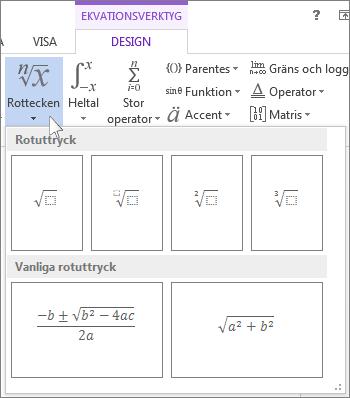 Matematiska strukturer: rotuttryck